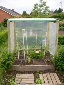 construction d 39 un abri pour les tomates quoi de neuf au potager. Black Bedroom Furniture Sets. Home Design Ideas
